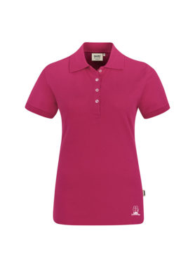 Damen-Polo-Shirt-Druck-Saum